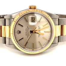 Rolex Datejust 18k Stainless Steel 16233 Champagne dial Oyster band
