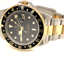 Rolex GMT-Master II 18k/SS Black Dial Men's Watch 16713LN