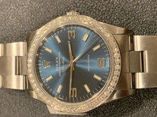 Rolex Air King 2005 SS 14000 Blue Dial