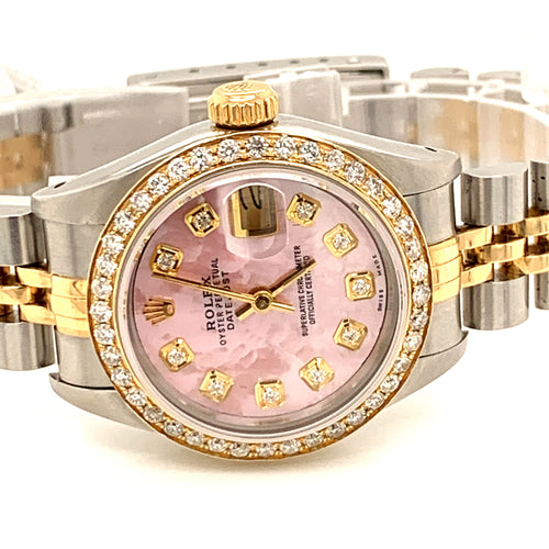 Rolex Datejust Ladies 26mm Jubilee Pink Mop with Diamond bezel