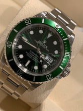 Rolex 16610 Stainless Steel Submariner 40mm custom Green Dial with custom Green Bezel