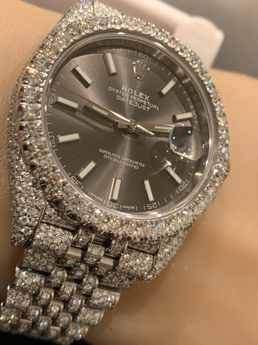Rolex 126300 41mm Datejust  Honeycomb setting Jubilee 14 carats