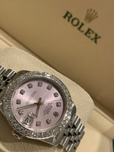 Rolex Datejust 68274 Ladies Stainless Steel 31mm Jubilee Pink Diamond Dial with Diamond bezel