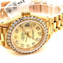 Rolex 6917 Ladies President 18k Mid size 26mm Diamond Bezel Diamond dial