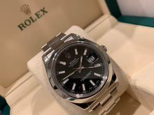 Rolex Datejust II 41mm SS Black Stick Dial 116300 2017