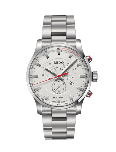 Mido Multifort Stainless Steel Chronograph Quartz 42mm M0054171103100