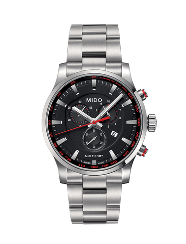 Mido Multifort Stainless Steel Chronograph Quartz 42mm M0054171105100