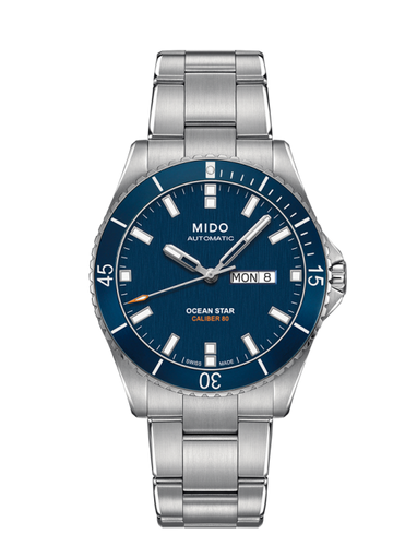 Mido Ocean Star Stainless Steel 42mm Blue Dial M0264301104100