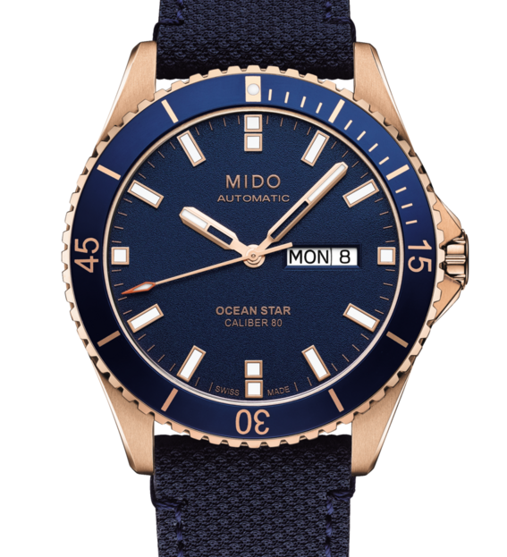 Mido Ocean Star Authomatic Blue with Rose gold case M0264303604100