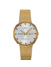 Mido Commander I Automatic Gold tone 37 mm Silver Dial M842932113