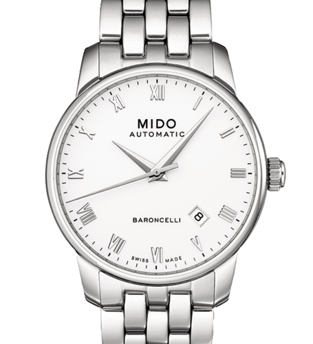 Mido Baroncelli Automatic White Dial Stainless Steel Men's Watch M86004261