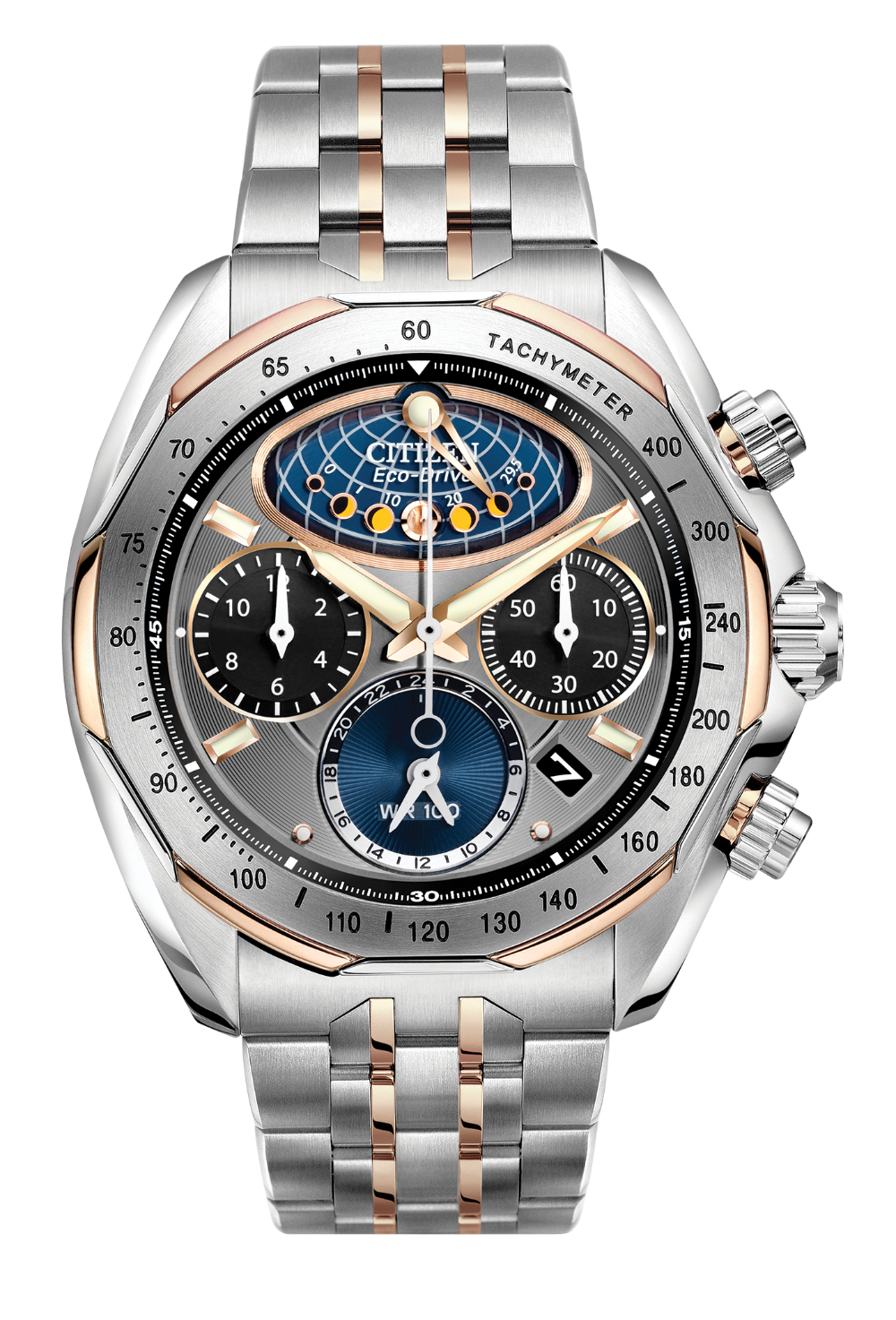 Citizen Moon Phase Flyback Eco Drive Signature AV3006-50H