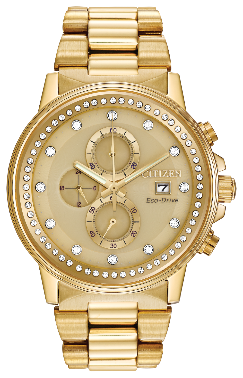 Citizen Night Hawk FB3002-53P  Gold dial stainless