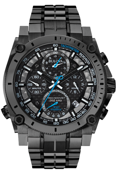 Bulova Precisionist Stainless Black and Blue Tone 98B229