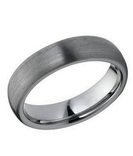 Tungsten 6mm matte finish rounded band