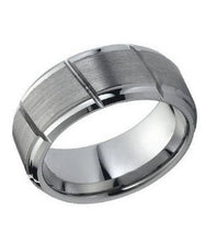 Tungsten Carbide 9mm Diagonal Wedding Band