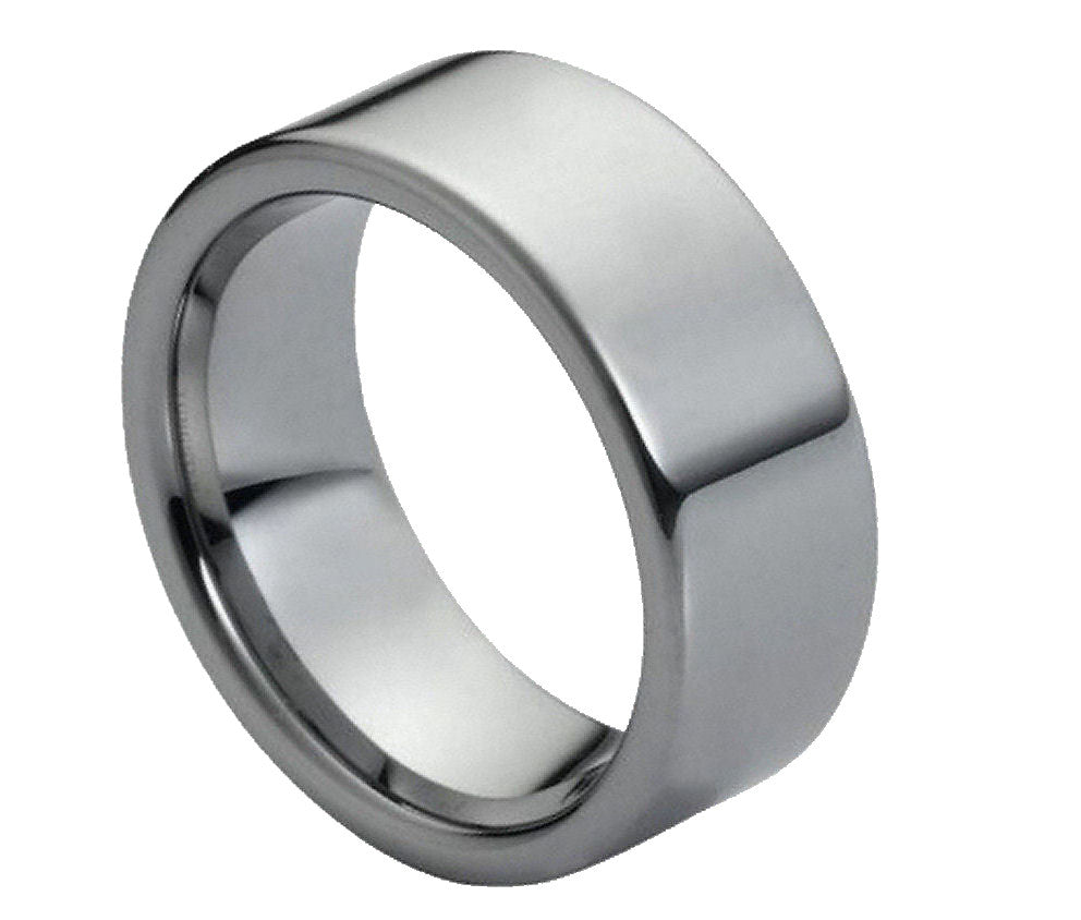 Tungsten Carbide 9mm Flat Wedding Band