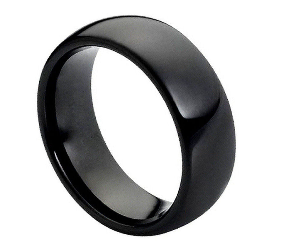 Black Tungsten Carbide Wedding band Classic