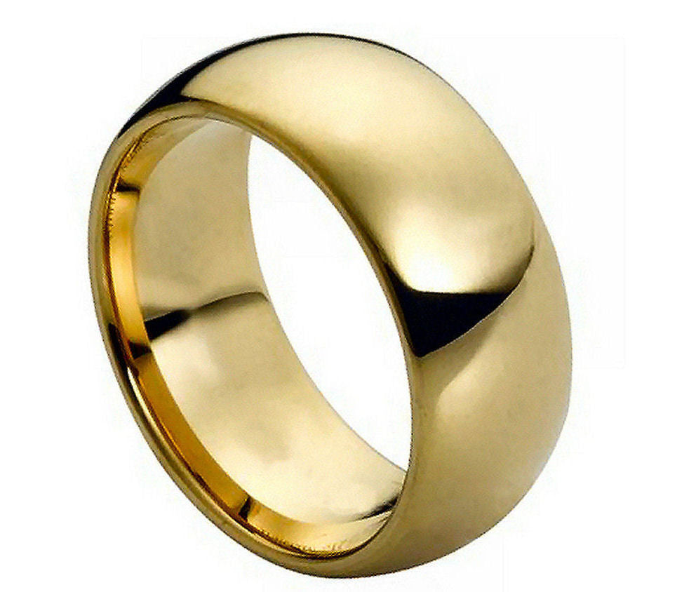 Gold Plated Tungsten Carbide Wedding band