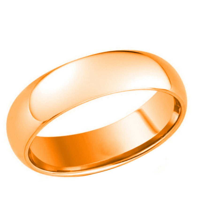 Rose Gold Plated Tungsten Carbide Wedding band