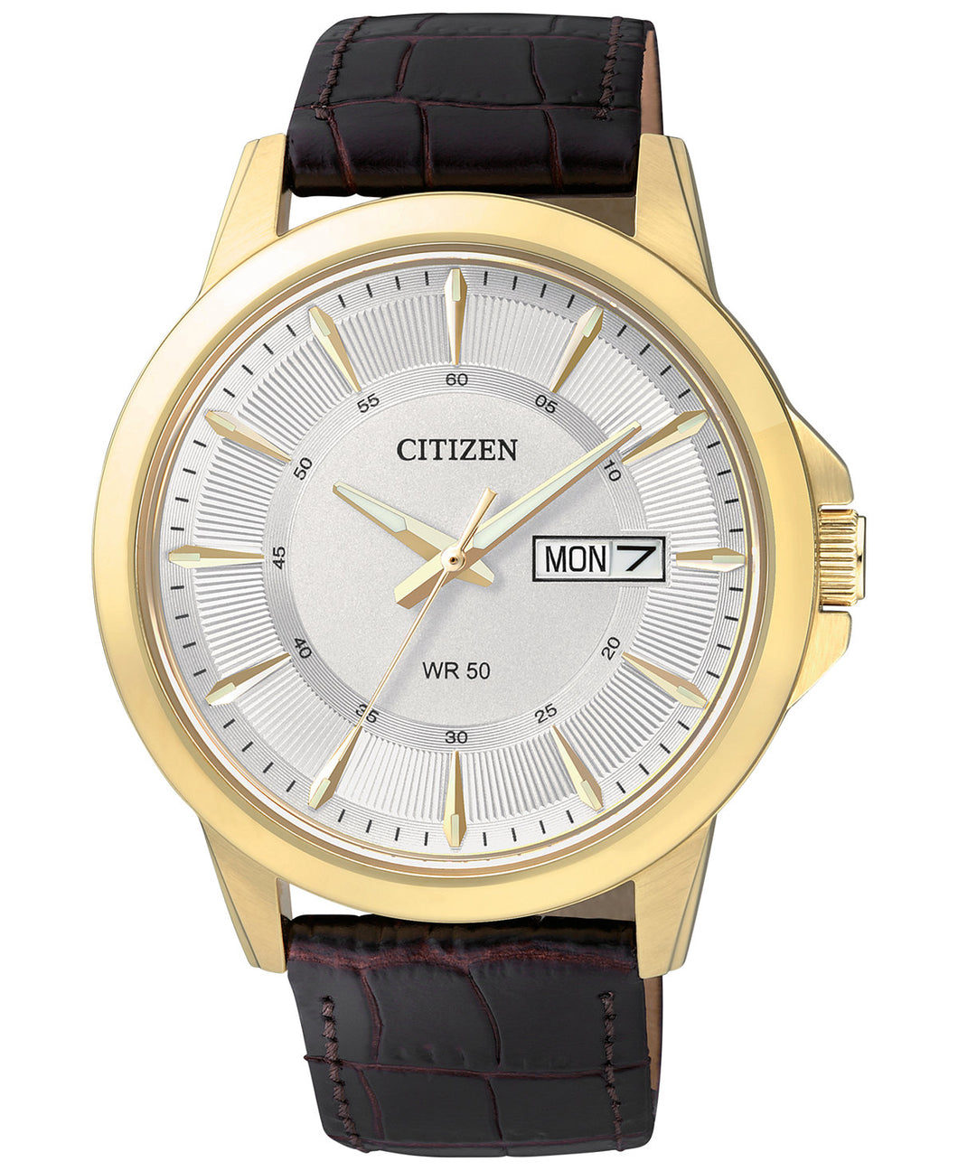 Citizen Quartz Gold tone leather BF2018-01A