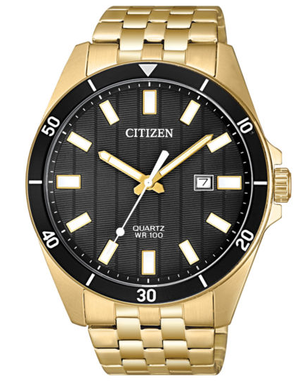 Citizen Quartz Stainless Steel Gold Tone BI5052-59E