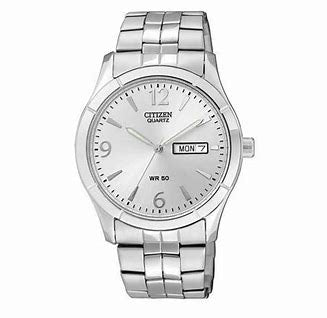 Citizen Men's Stainless Steel Watch With Silver Dial
