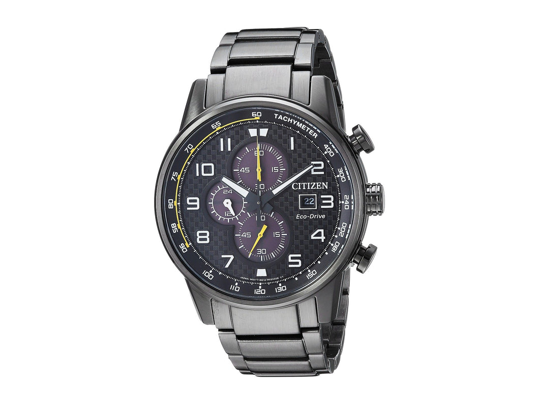 Citizen CA0687-58E black Dial stainless steel Eco Drive