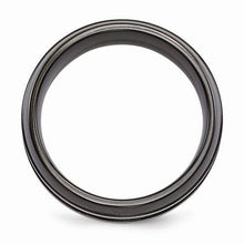 Edward Mirell Titanium Black Ti Ring - 8mm - AydinsJewelry