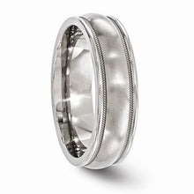 Edward Mirell Titanium Brushed & Polished Milgrain Band - 6mm - AydinsJewelry