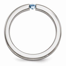 Edward Mirell w/ Blue Topaz And Blue Anodized - 4mm - AydinsJewelry