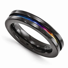 Edward Mirell Black Ti Anodized Ring - 4mm - AydinsJewelry