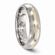 Edward Mirell Titanium And 14k Gold Brushed Band - 6mm - AydinsJewelry