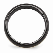 Edward Mirell Black Ti And 14K Domed Ring - 6mm - AydinsJewelry