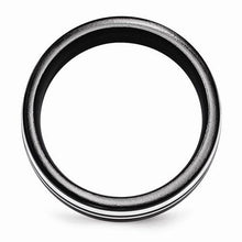 Edward Mirell Black Ti & Sterling Silver Ring - 9mm - AydinsJewelry