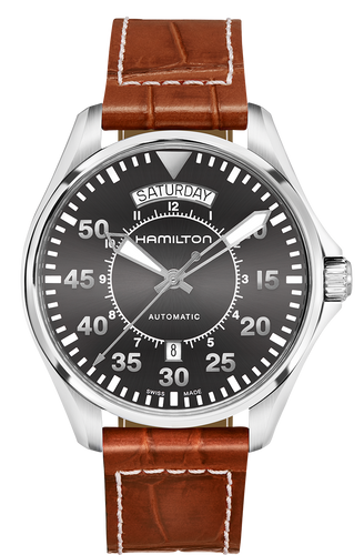 Hamilton Khaki Aviation Pilot Day Date Auto H64615585