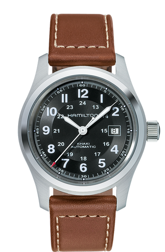 Hamilton Khaki Field Automatic Brown Leather H70555533