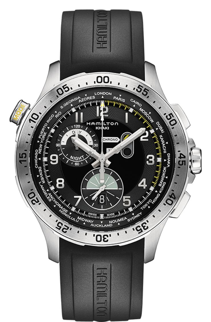 Hamilton Khaki Aviation Worldtimer Chrono Quartz