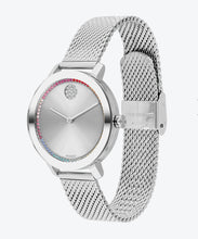 Movado Bold Stainless Steel Mesh Band Rainbow 3600698 34mm