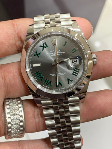 Rolex Datejust 41 Wimbledon Dial Jubilee Bracelet Men's Watch 126300