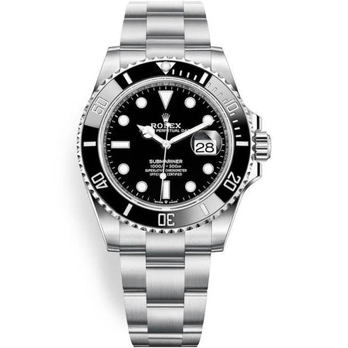 Rolex 126610 Stainless Steel Submariner 41mm Black Dial Ceramic