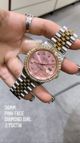 Rolex Pink Datejust Two-Tone Jubilee with Diamond dial 2.75ctw