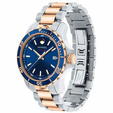 Movado Series 800 Two-Tone Rose Gold and Royal Blue Dial 2600149