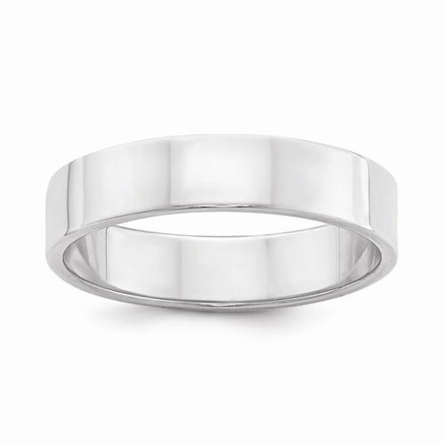 Sterling Silver 5mm Flat Band - AydinsJewelry