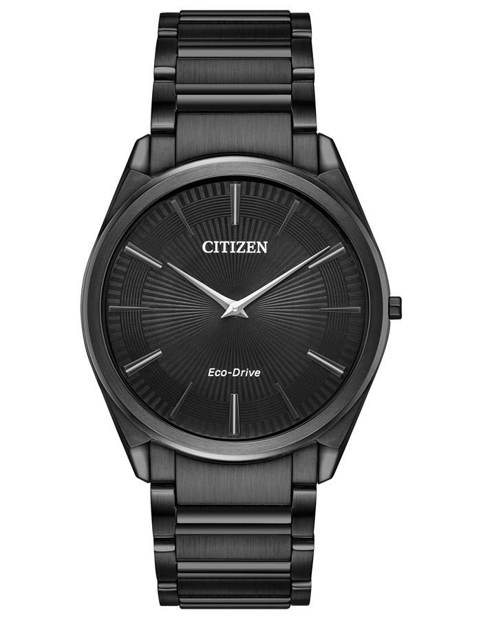 Citizen Stilleto Eco-Drive watch Black Dial and case black bracelet