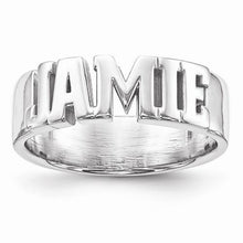 Casted High Polished Name Ring - AydinsJewelry