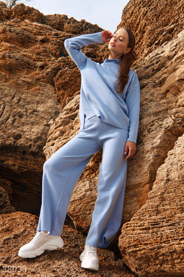 Oversized Suit with Wide Leg Pants