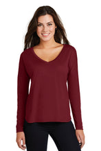 Ladies Drapey Long Sleeve Tee - CH