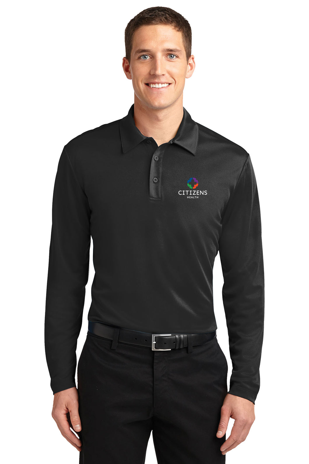 Port Authority® Silk Touch™ Performance Long Sleeve Polo - CH