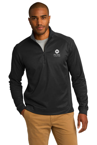 Port Authority® Vertical Texture 1/4-Zip Pullover - FCHC
